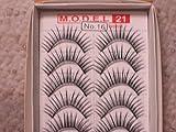 MODEL 21 False fake Lashes No. 9, 10, 11, 12, 13, 14, 15, 16 or 16.1 Eyelashes 10 Pairs