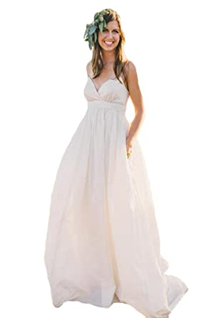 The Peachess Vintage Wedding Dresses with Long Sleeves Bohemian ...