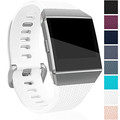 Maledan Replacement Bands Compatible for Fitbit Ionic, White, Small