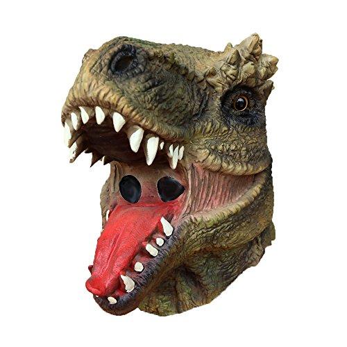 Lubber Dinosaur Latex Animal Head Mask for Halloween Party Costume Jurassic Mask