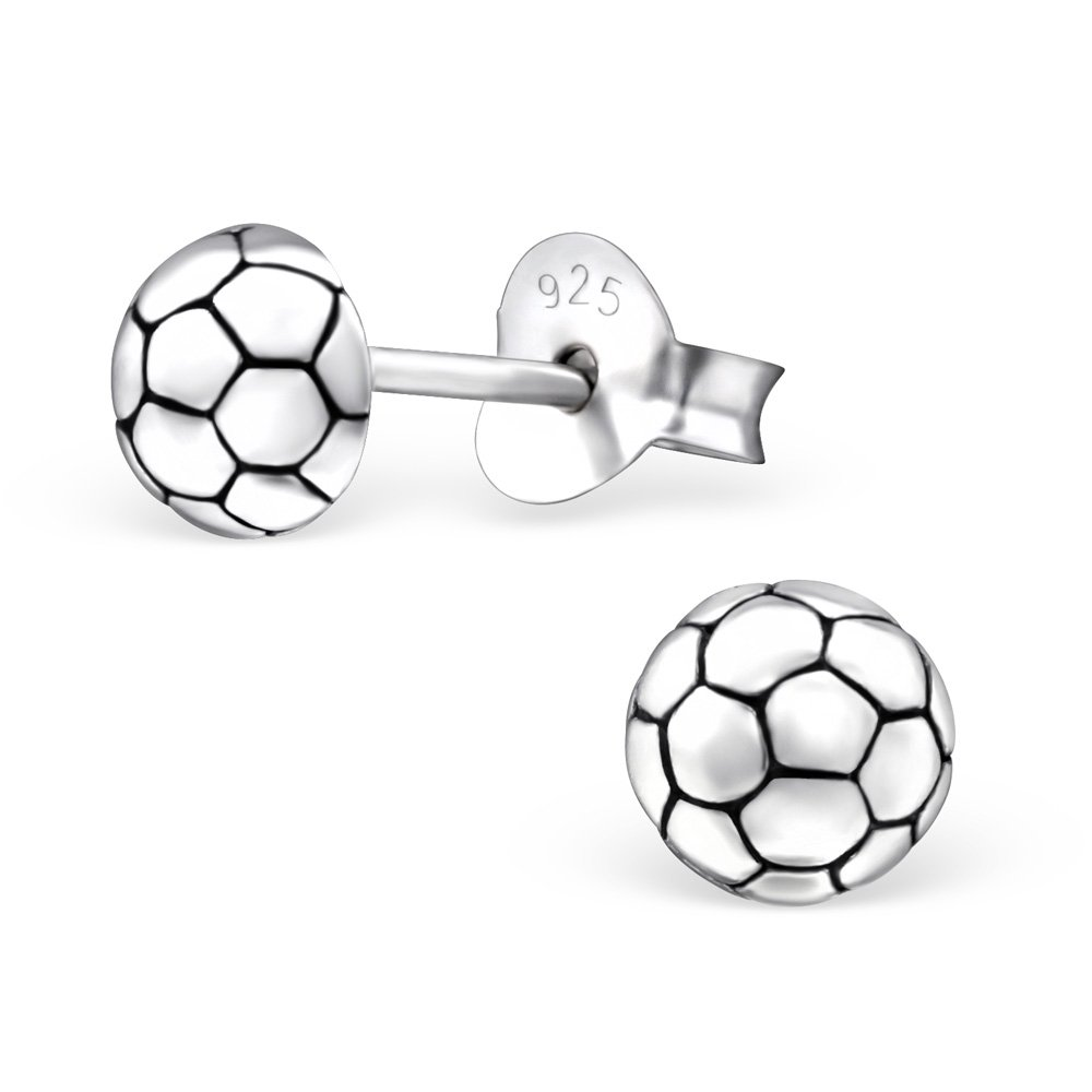 Hypoallergenic Football Stud Earrings for Girls (Nickel Free and Safe for Sensitive Ears)