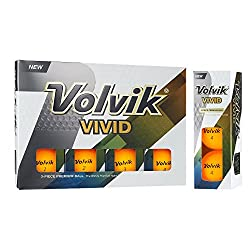 Volvik Vivid Golf Balls, Matte Orange (One Dozen)