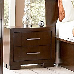 Coaster Home Furnishings 200712 Contemporary Nightstand, Cappuccino