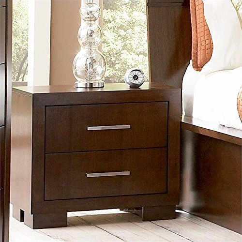 Coaster Home Furnishings 200712 Contemporary Nightstand, Cappuccino by Coaster Home Furnishings