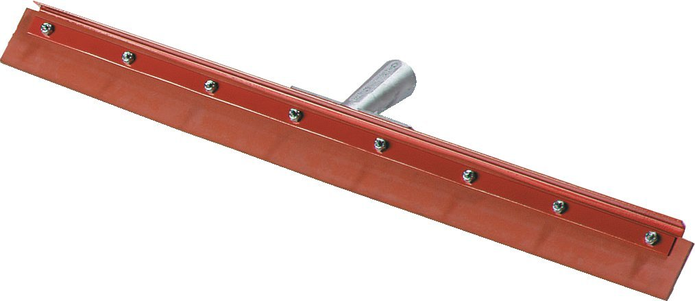 Carlisle 4007600 Flo-Pac Gum Rubber Straight Floor Squeegee with Heavy Duty Steel Frame, 24'' Width, Red (Case of 6)