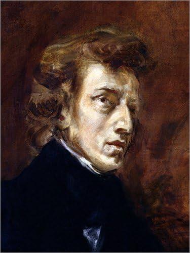 Posterlounge Cuadro de PVC 30 x 40 cm Fr/éd/éric Chopin de Eugene Delacroix//Bridgeman Images