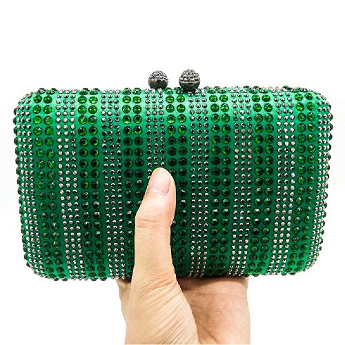 Bag Evening Lady's Banquet Green Flower Bag Handbag Lady Parties Shoulder Wedding Glitter Bag Clubs for BESTWALED Green Women v8qdq