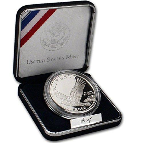 2008 P Commemorative Bald Eagle 90% Proof Silver Dollar in OGP