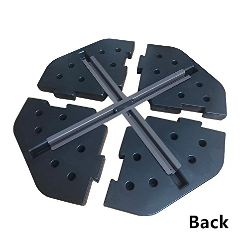Le Papillon Patented Sand-Filled Plastic Base Weight Plates for Cantilever Offset Umbrella, Pack of 4 by Le Papillon (Image #3)