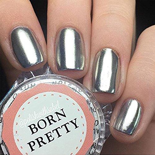 BORN PRETTY Mirror Nail Powder Silver Pigment Nail Glitter Nail Art Chrome(1G,Box)