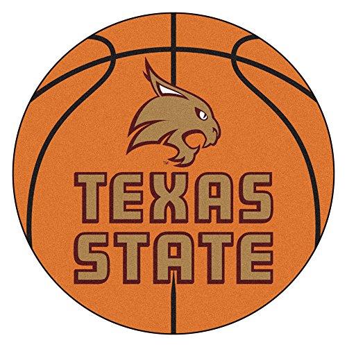NCAA Texas State University Bobcats Basketball Shaped Mat Area Rug (Area University Basketball Rug State)