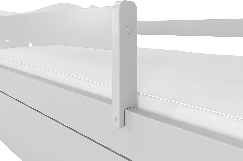 NeedSleep Lit de protection anti-chute pour enfant avec matelas 70 x 140 x 160 cm
