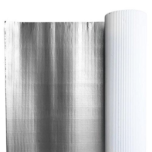 Metallic Corrugated Paper 48'' Wide x 25' Long - Silver