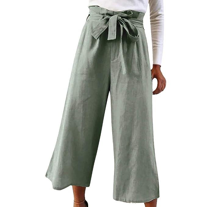 Mosstars Pantalones Anchos Mujer Verano Pantalones Sueltos ...