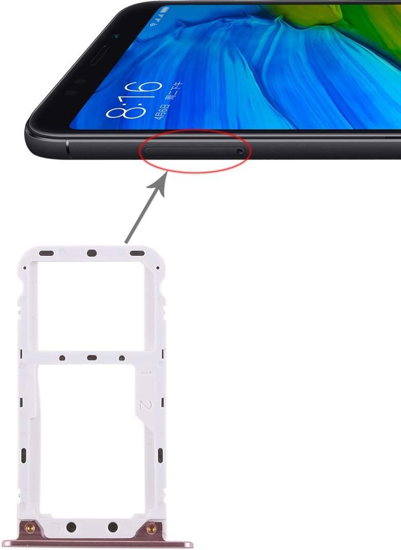 Chen Cheng Huan Bandeja 2 GDOO Tarjeta SIM/Bandeja de Tarjeta Micro SD for Xiaomi redmi 5 Plus (Negro) (Color : Rose Gold)