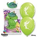 Disney Tinker Bell 30.5cm Vert Citron Qualatex ballons en Latex x 6