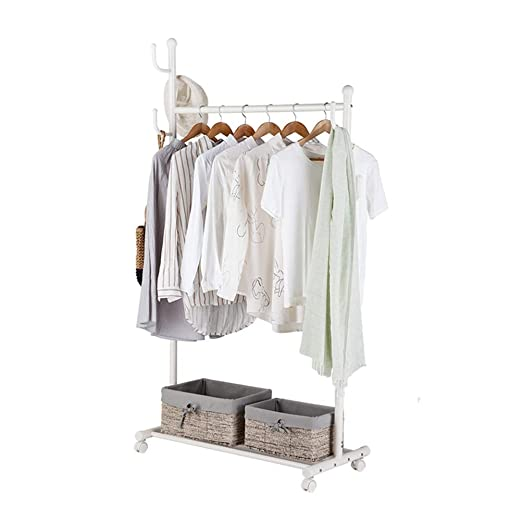 H.Q Perchero Simple Rack de Piso Dormitorio Rack Individual ...