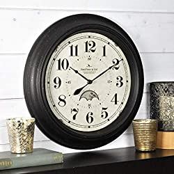 FirsTime & Co. 25676 FirsTime Luna Wall Clock, 15.5, Oil Rubbed Bronze