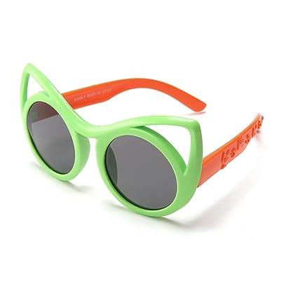 Aclth Niños Ojos de Gato diseño niños Gafas de Sol polarizadas Protección UV400 Lentes de Reflejo