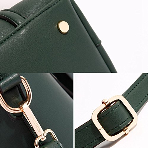 bolso Bolso la grande el mujer marrón la simple de del la la para de PU bolsa compartimiento trabajo de de de hombro oscuro bolsa con Bolso mensajero Ligero Brown Green verde el de Color 0YZB8qq