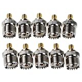 Connector - SODIAL(R) Adapter UHF female SO-239 to SMA female alloy RF coaxial converter 10x