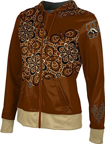 ProSphere Western Michigan University Women's Zipper Hoodie, School Spirit Sweatshirt (Foxy) F81B1 Brown and Metallic -