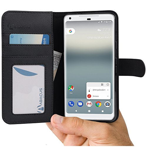 Abacus24-7 Google Pixel 2 Case, Leather Wallet...