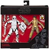 Star Wars Black Series 6 Poe Dameron and First Order Riot Control Stormtroope...