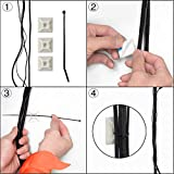 XHF 100 PCS Cable Zip Tie Mounts Self Adhesive Wire Cable Clips Organizer Holders White 0.75 inch (19.5mm x 19.5mm) HS-101S