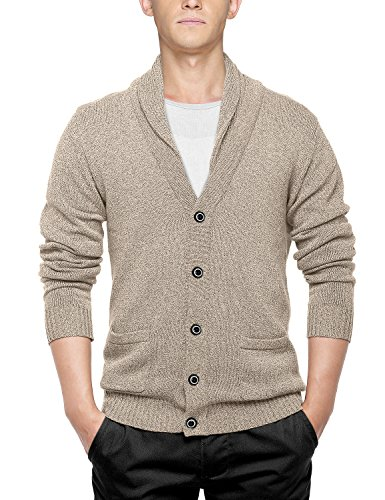 Match Men's Sweater Series Shawl Collar Cardigan (US L (Tag size 2XL), 1611 Apricot)