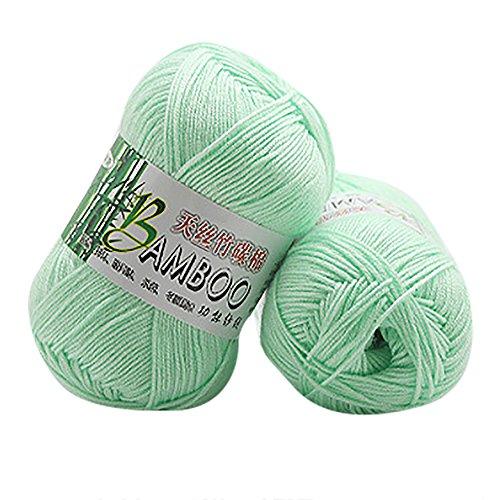 Clearance Sale! Yarns for Knitting Crochet Craft,KFSO Bamboo Cotton Yarn - Hand Knitting Knicker Yarn Crochet Soft Scarf Sweater Hat Yarn Knitwear Wool (C) ()