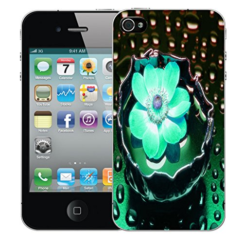 Mobile Case Mate iPhone 5c Silicone Coque couverture case cover Pare-chocs + STYLET - Blue Water Flower pattern (SILICON)