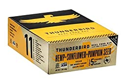 Thunderbird Bar Nut & Seed Bars Hemp Sunflower Pumpkin Seed 15 (1.7 oz.) bars per box
