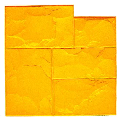 BonWay 12941 24Inch by 24Inch Ashlar Cut Stone Urethane Floppy Mat Yellow