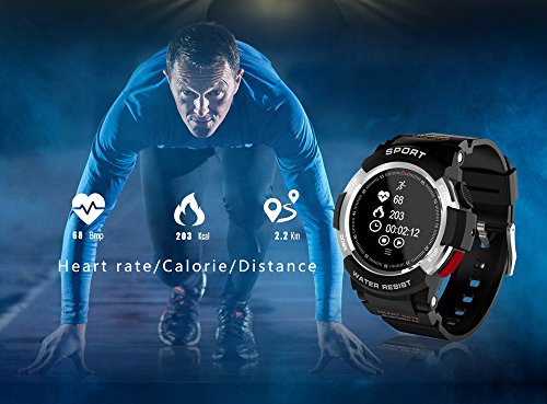 Amazon.com : Aobiny Smart Watch, F6 Heart Rate Monitor ...