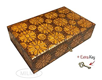 Amazoncom Large Collector Box Polish Handmade Jewelry Box Linden