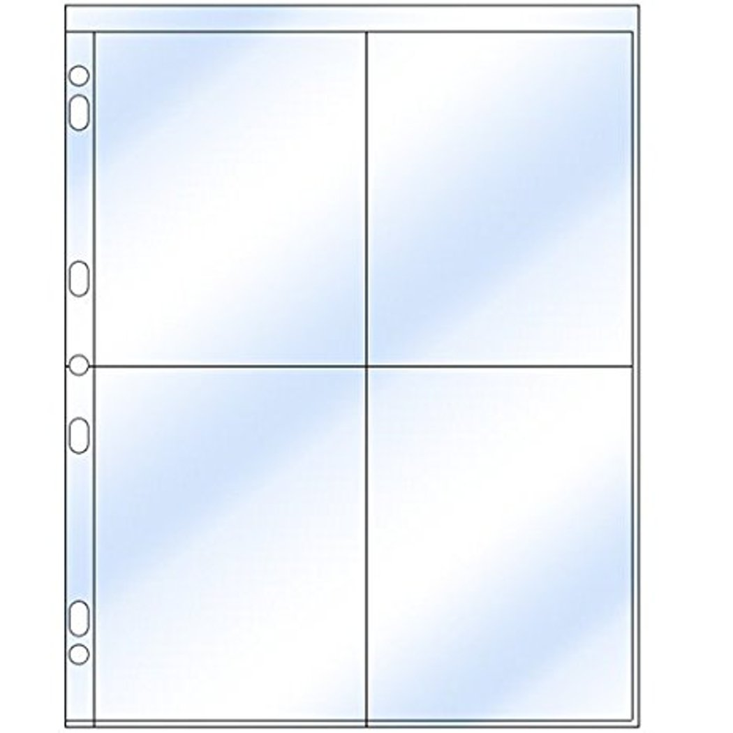 Clear File - Extra Tall 4 4x6 Archival Plus Print Page #360025B #36B - 25 Pack by Clear File