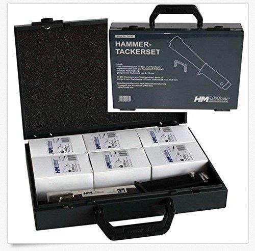 HM Hammertacker-Set im Koffer mit 30000 Klammern TH-K8 HM Müllner
