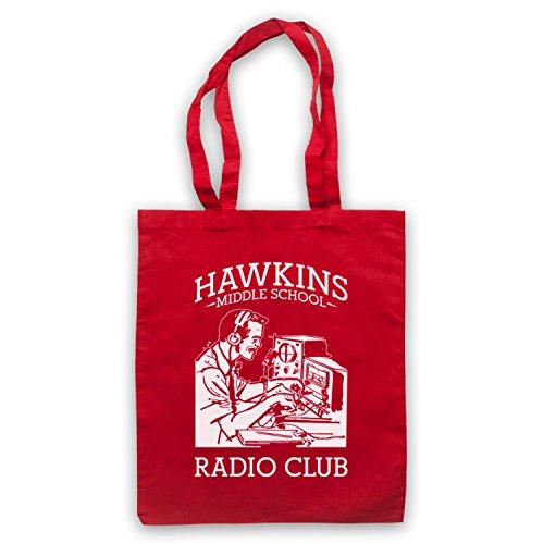 Stranger Things Hawkins Middle School Radio Club Bolso Rojo