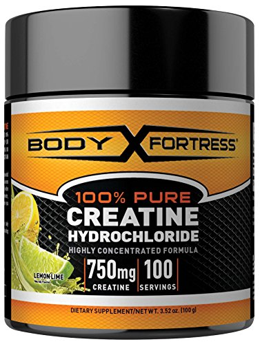 Cheap Body Fortress® 100% Pure Creatine HCL, Lemon Lime, 100 Gram