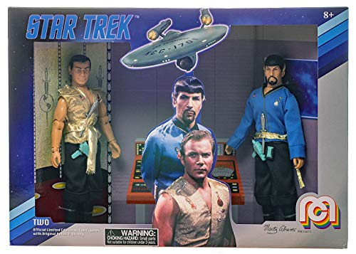 Star Trek Mirror Kirk & Spock Classic 8 MEGO Action Figure Set Re-Issue