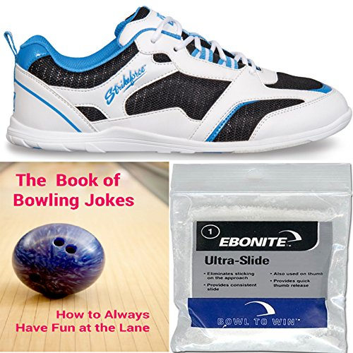 kr-strikeforce-womens-spirit-lite-bowling-shoes-white-black-blue-ebonite-ultra-slide-powder-and-the-