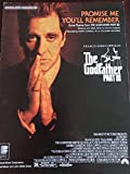 img - for Promise Me You'll Remember (Love Theme from The Godfather III) - Sheet Music book / textbook / text book