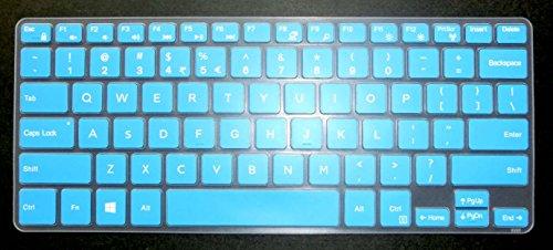 BingoBuy US Layout Keyboard Protector Skin Cover for 11.6 Dell Inspiron 11 3162 3168 3169 3179 3180 3185 3195, i3162 i3168 i3169 i3179 i3180 i3185 i3195 Card Case (Blue)