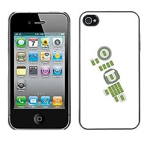 Be-Star Único Patrón Plástico Duro Fundas Cover Cubre Hard Case Cover Para Apple iPhone 4 / iPhone 4S / 4S ( Green Abstract White Football Soccer )