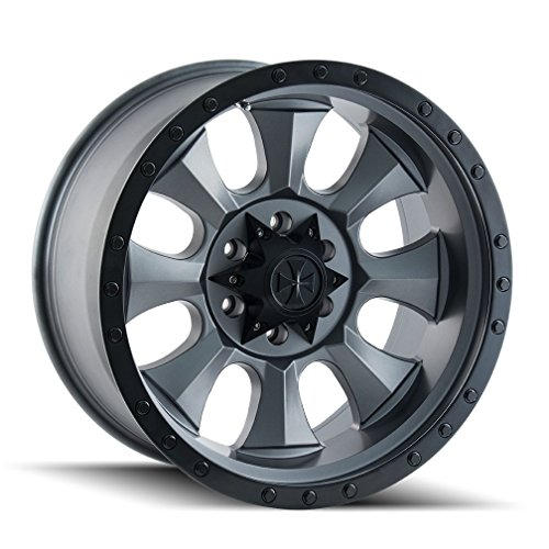 Dirty Life Matte Gunmetal/Black Beadlock Wheel with Painted Finish (20x9