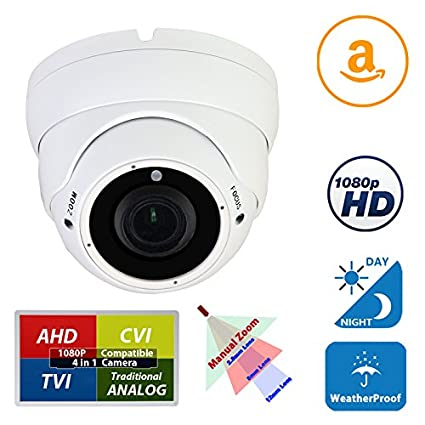 LEXAcctv HD 4in1 2MP 1080P 2.8-12mm TVI AHD CVI Analog Security Surveillance cam