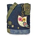 Chala Patch Canvas Crossbody -Denim Owl II