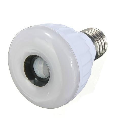 DLLL E27 blanca 25 LED 3528 SMD Lámpara modo Sensor de movimiento con Sensor de movimiento