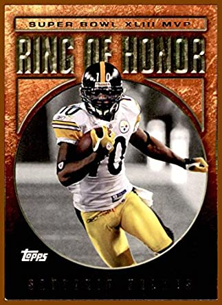 8b6d41cf91d 2009 Topps  RH43 Santonio Holmes RING OF HONOR PITTSBURGH STEELERS SUPER  BOWL XLIII at Amazon s Sports Collectibles Store